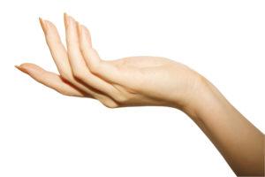 写真:女性の手